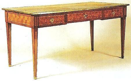 Restauration de meubles atelier bence style louis xvi for Bureau style louis 13